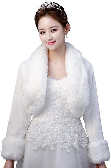 Wedding Faux Fur Jacket Coat