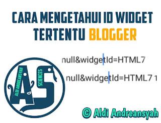 Cara Mengetahui ID Widget Tertentu Blog