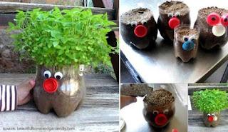 Kerajinan Tangan dari Botol Bekas Berbentuk Lampu Hias