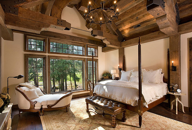 15 Traditional & Rustic Warm Interior Wood Decorating ... on Traditional Rustic Decor  id=83048