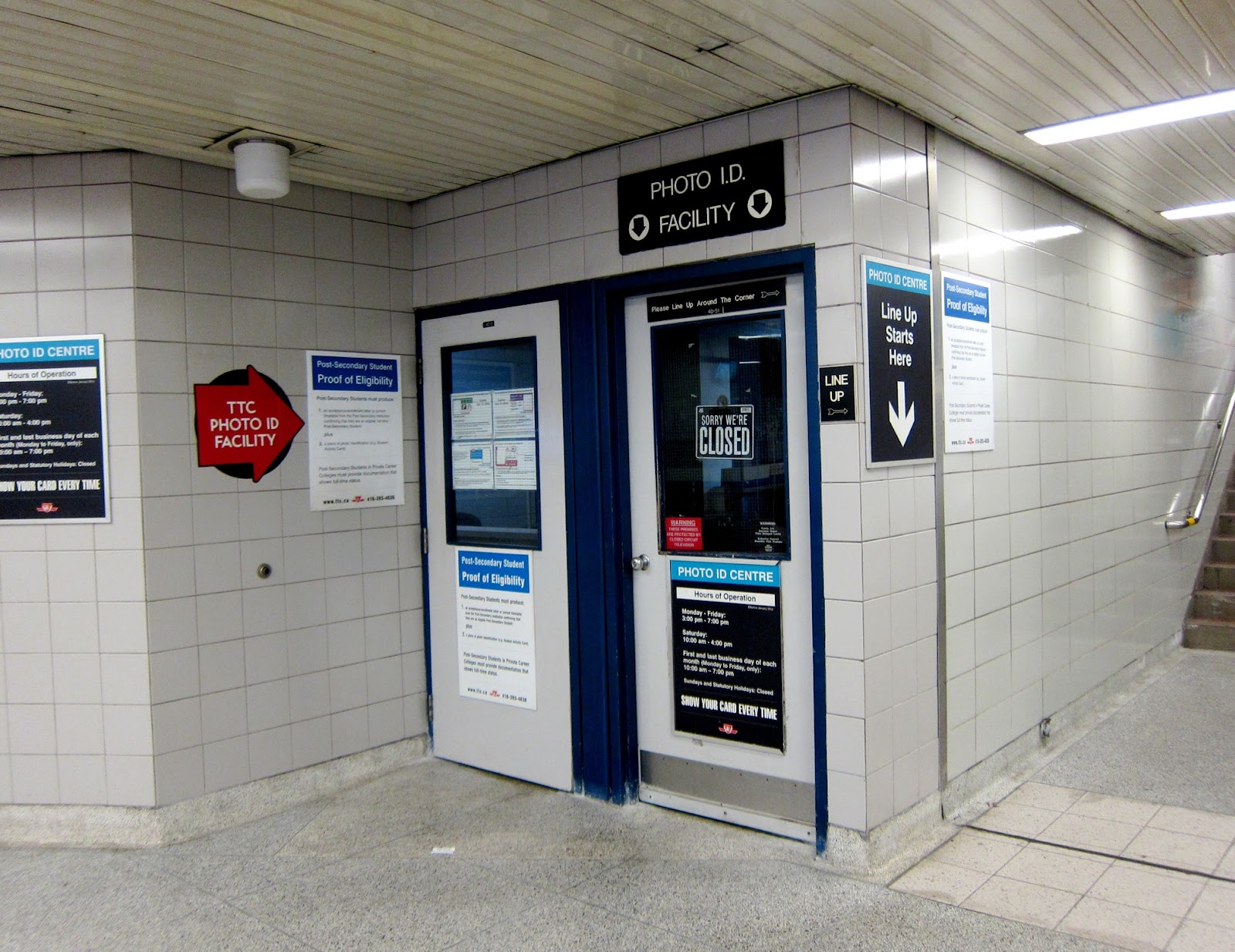 Photo ID facility at Sherbourne station