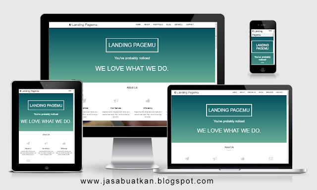 landing page blogspot terbaik