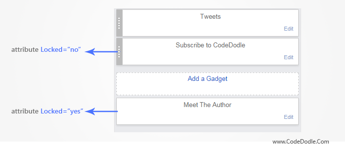 Page Element - Widget 'locked' attribute