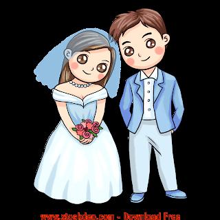 Vector Thiệp cưới file cô dâu chú rể