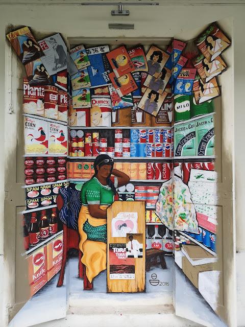 Waterloo Street Mural - Mama Store