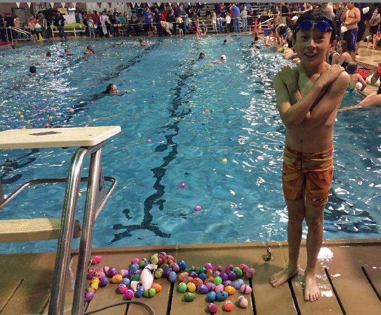 brighton april fools swim meet clip