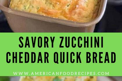 Savory Zucchini Cheddar Quick Bread