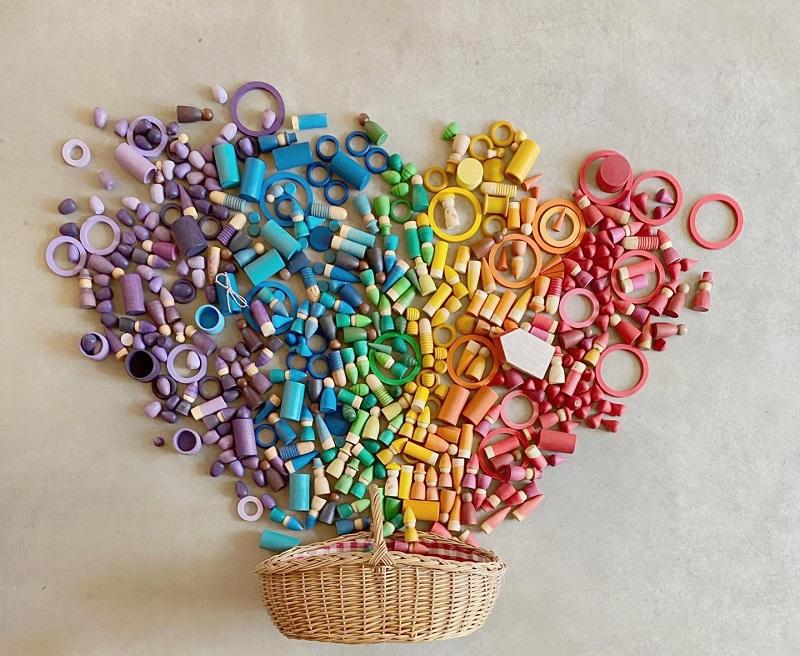 grapat wooden toys - magos, palos, lola, rings, tomtems, nins