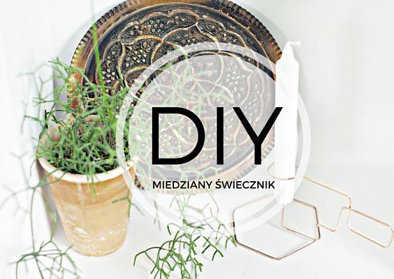 Minimalistyczny świecznik z miedzianego drutu, krok po kroku, dizajn za grosze