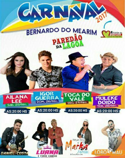 PROGRAMACAO - Carnaval Bernardo do Mearim