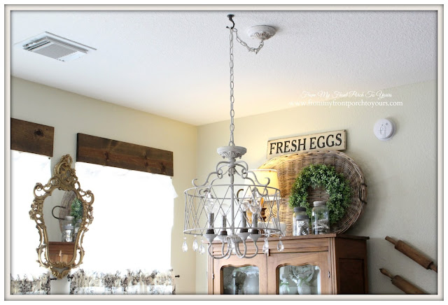French Chandelier-Farmhouse-Kitchen-Breakfast-Nook-Farmhouse-Table-From My Front Porch To Yours
