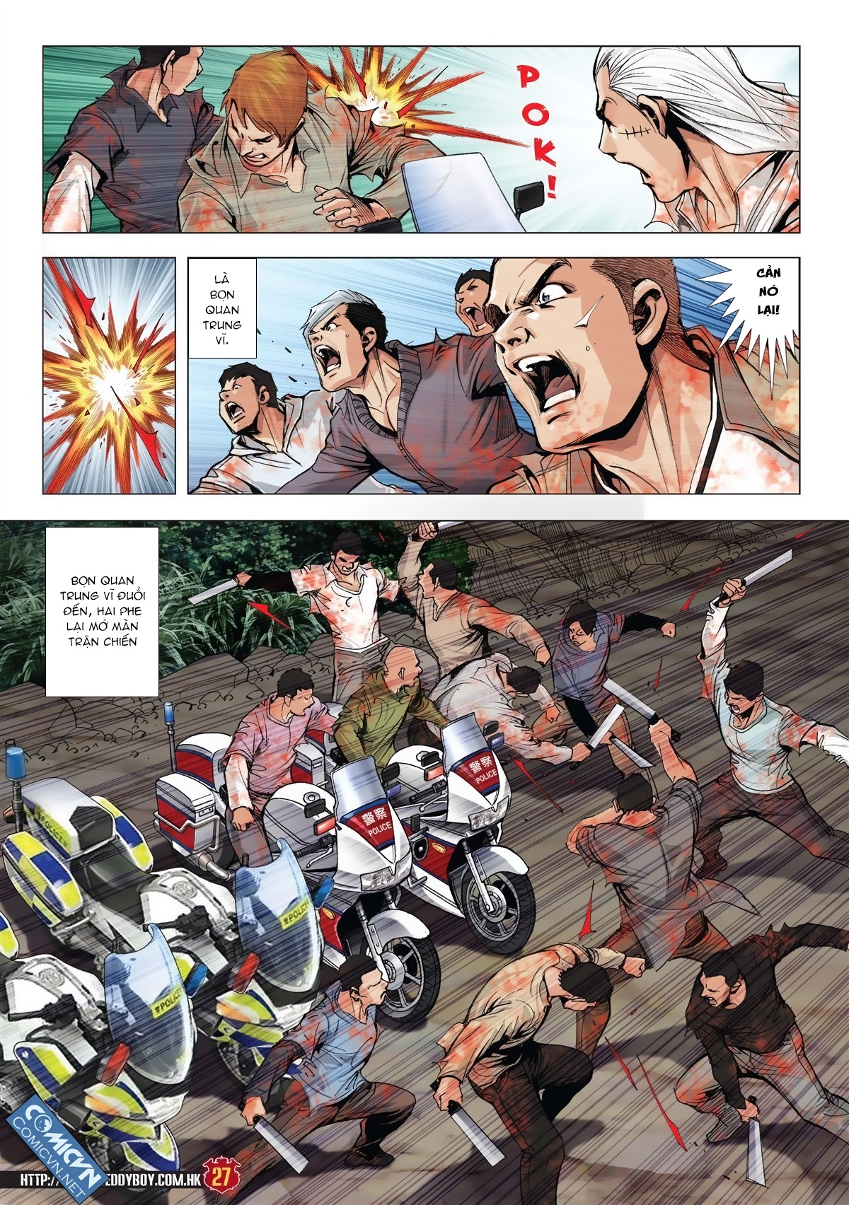 Người Trong Giang Hồ chapter 1986: chạy trang 25