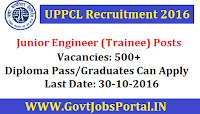 UPPCL Recruitment 2016 For 500+ Trainee Posts Apply Online Here