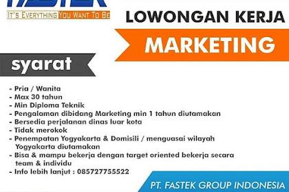 Info Lowongan Kerja Marketing Fastek Group Semarang