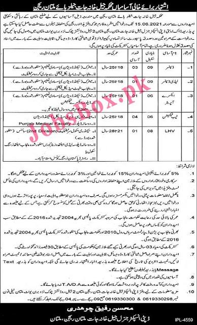 punjab-prison-department-jobs-multan-region