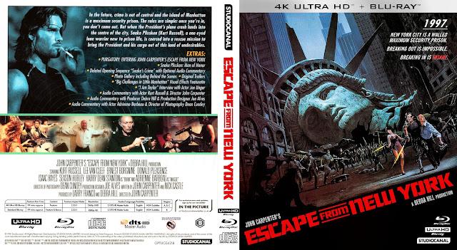 Escape from New York Bluray Bluray Cover