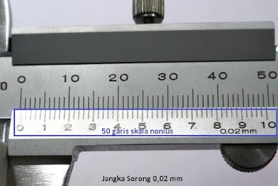 jangka sorong metrik ketelitian 0,02 mm