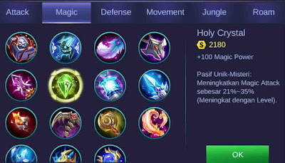 Holy Crystal Mobile Legends Build Kimmy