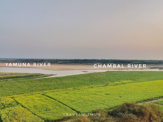 Chambal and Yamuna confluence