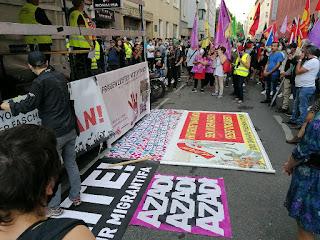 Avusturya'nın anakenti Viyana'da üç gündür üst üste AKP-MHP yanlısı sivil faşistler şehrin 10.