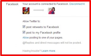 how to connect my twitter account to facebook page