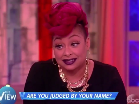 Thats So Raven: Raven-Symoné Won't Hire You If Your Name is Too 'Ghetto' Despite Her Own
