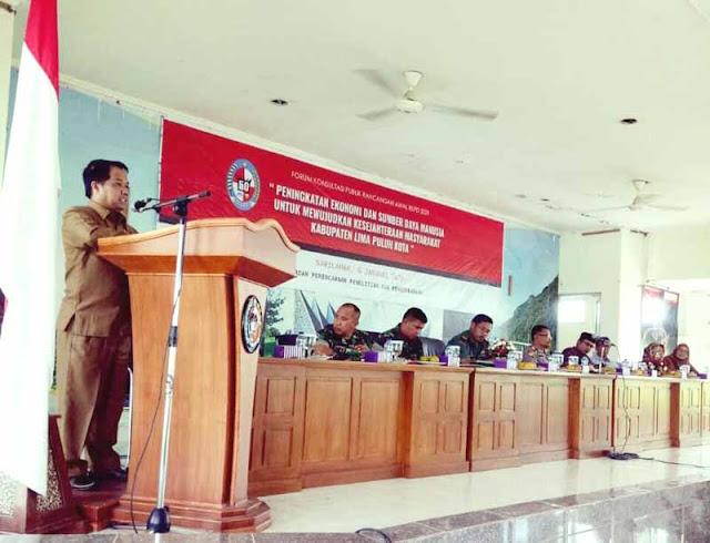 Wabup Ferizal Ridwan Buka Forum Konsultasi Publik Rancangan Awal RKPD 2021