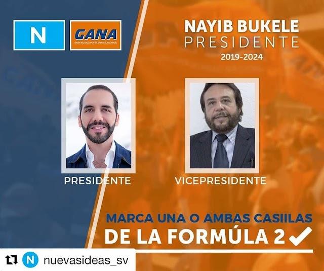 Nayib candidato presidencial.