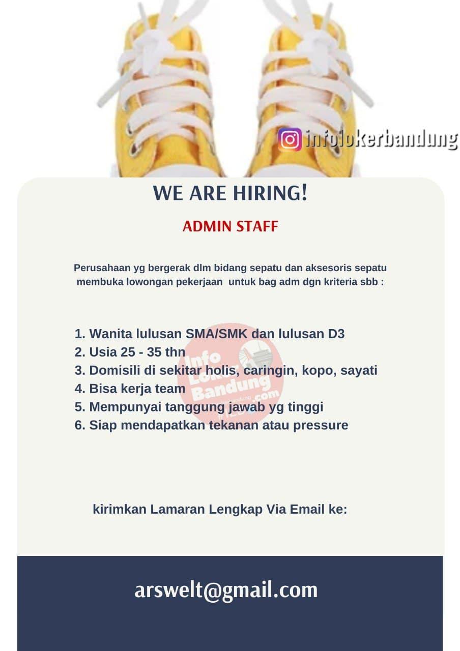 Lowongan Kerja Admin Staff PT. Avanti Ragam Sukses Bandung Juni 2021