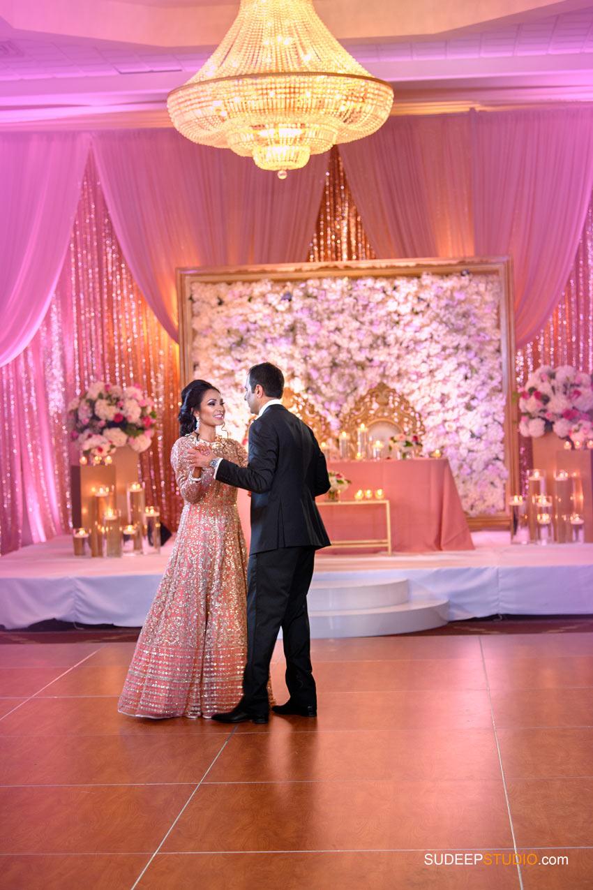 Indian Wedding Photography First Dance at Eagle Crest Marriott SudeepStudio.com Ann Arbor South Asian Indian Wedding Photographer