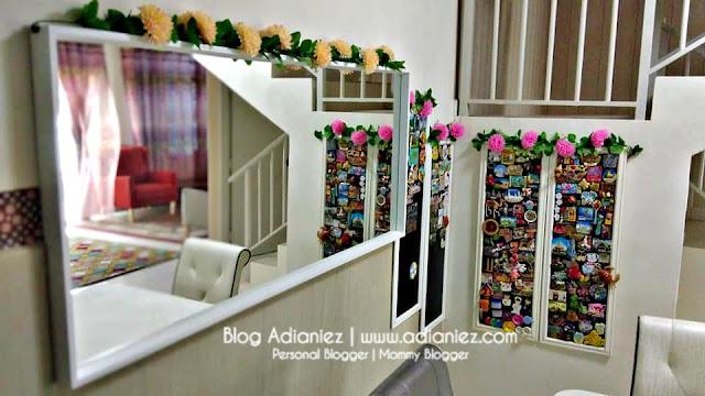 Deko Ruang Makan | Cermin dan Frame Fridge Magnet