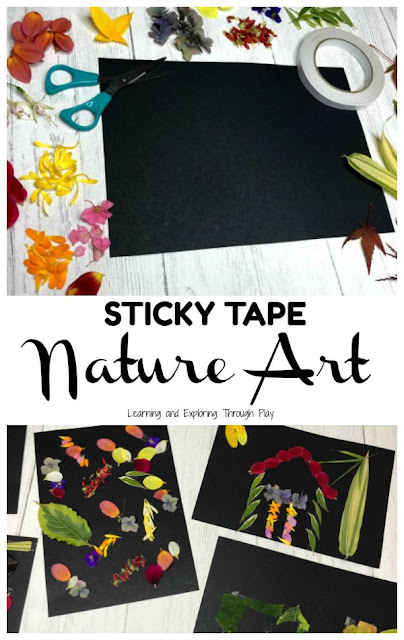 Sticky Tape Nature Art - Forest School Ideas
