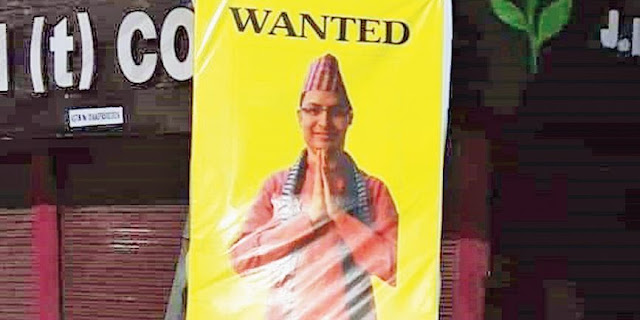 Parody posters of Bista in Siliguri