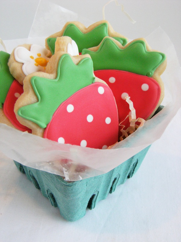 Strawberry Decorated Cookies