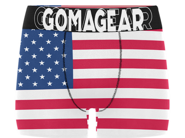 GOMAGEAR AMERICA MEN BOXER BRIEF