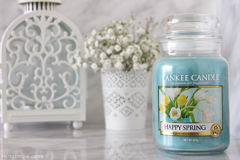 świeca zapachowa yankee candle happy spring