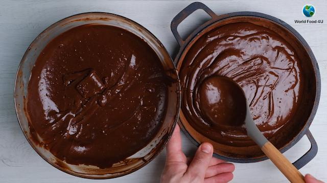 chocolate in pan