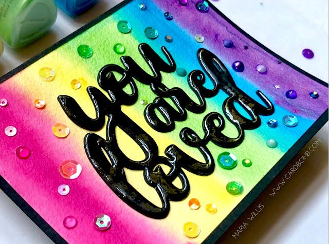 #mariawillis, #cardbomb, #card, #cards, #handmade, #handmadecards, #papercraft, #stamps, #ink, #paper, #art, #create, #creative, #watercolor, #diecutting, #tonicstudios, #tonicstudiosusa, #nuvo, #nuvoshimmerpowder,