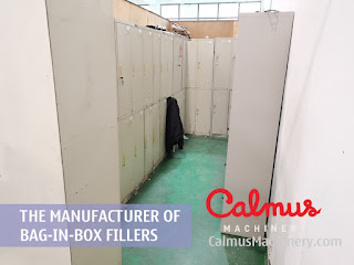 Changing Room of Bag-in-Box Filler Manufacturer - Calmus Machinery