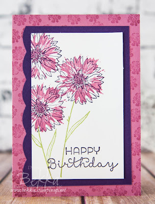 Touches of Texture Birthday Card and a Fun Way to use your Best Badge Punch from Stampin' Up! UK Video Tutorial Here