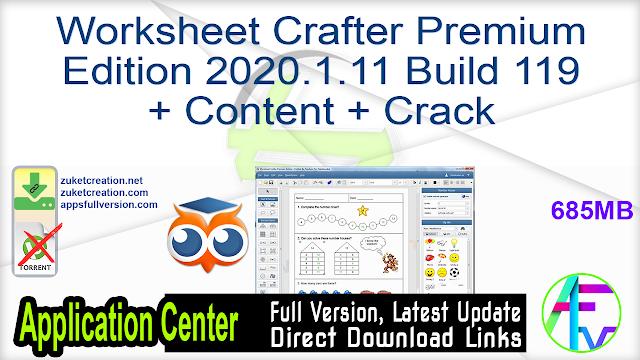 Worksheet Crafter Premium Edition 2020.1.11 Build 119 + Content + Crack