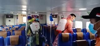 Cegah Covid-19, Komandan kapal Barelang 3001 Polda Kepri Lakukan Ini di Penuba