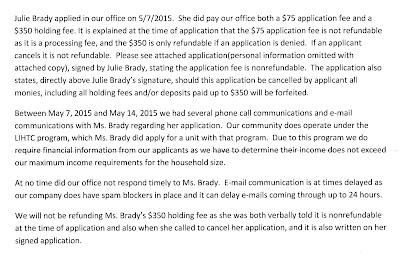 Concord Management LTD response to FL DBPR complaint