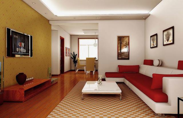Desain Ruang Tamu Model Rumah Minimalis Tipe 45