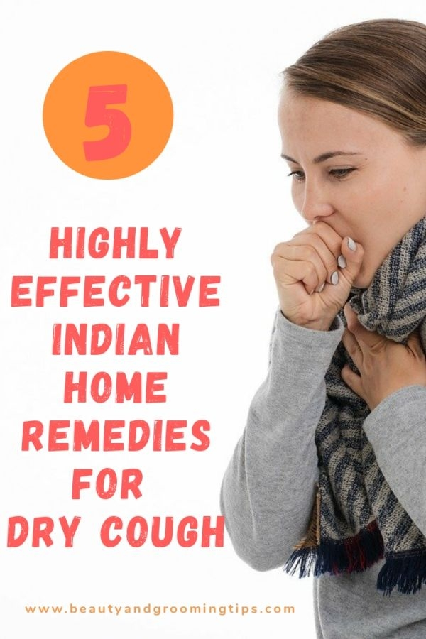 woman with dry cough - Indian home remedies for dry cough