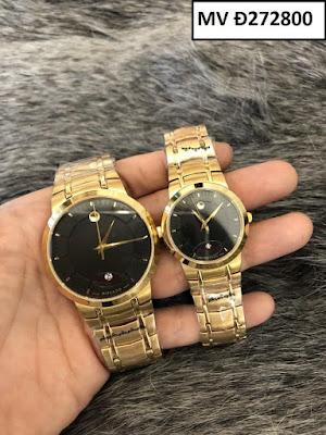 Đồng hồ cặp đôi màu vàng Movado MV Đ272800