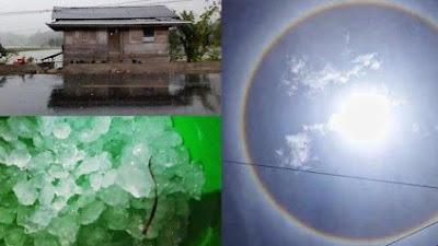 Aneh!!.. Setelah Penampakan Matahari Dilingkari Cincin, Tiba-Tiba Hujan Es di Toraja
