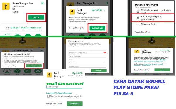 Langkah-langkah bayar game, aplikasi, buku dan film di google play store pakai pulsa tri (3)