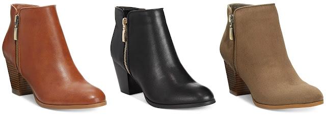 Style&Co Jamila Zip Booties $41 (reg $80) - use promo code SUPER