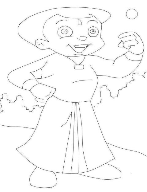 Kids Page: Chota Bheem Coloring Pages for Kids